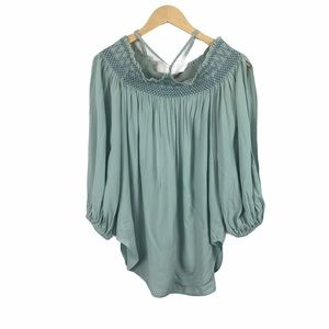 Anthropologie Holding Horses mint green blouse